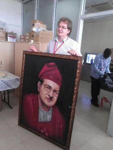 cliton portrait painting by ayodeji ayeola