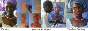 lola adefope portrait painting