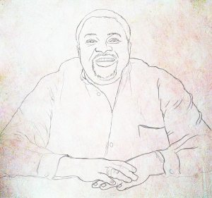 sketch of mike adenuga portrait painting by ayeola ayodeji abiodun awizzy stages (1)