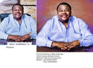 sketch of mike adenuga portrait painting by ayeola ayodeji abiodun awizzy stages (3)